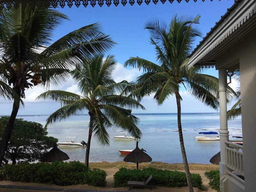 view from Mark's room at Heritage Le Telfair Golf Resort Mauritius