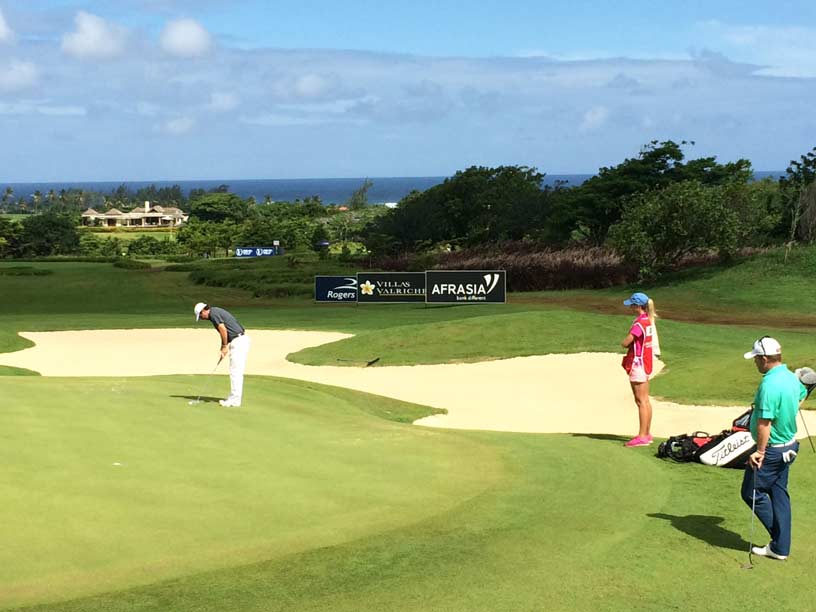 Thomas Aiken and George Coetzee at Heritage Golf Course Mauritius